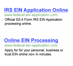 IRS EIN Application